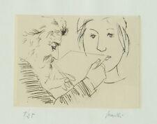 MANZU' Giacomo (Bergamo 1908 - 1991), Pittore e testa di modella