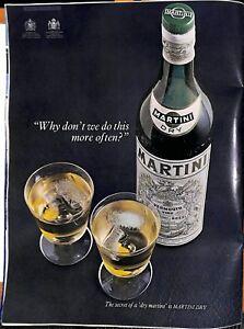 Original Vintage 1960s 'Martini' Advert- London News 1967
