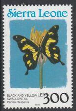 Sierra Leone 6807 - 1991 Schmetterlinge 300L Country in blau P14 nicht gefaßt