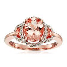 Natural Morganite & 1/6 ct Diamond Ring in 10K Rose Gold