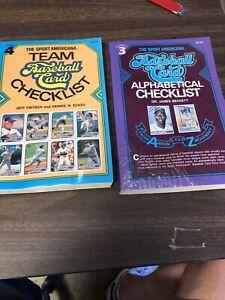 1988 & 1989 Beckett Team & Alphabetical Checklist Books Nice Shape