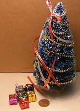 1:12 Scale Large Decorated Christmas Tree & 6 Loose Presents Tumdee Dolls House