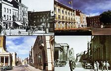 Northampton: 4 mini views : Wood Hill: & George Row: Then & Now