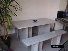 Steinbank Bank Sitzgarnitur Gartenbank Granit | Tisch Bank Sitzgruppe Stein Neu