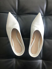 Zara Women Shoes — White Leather Mules