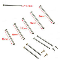 Stainless Steel Watch Band Strap Bracelet Link Spring Pins 16 18 20 22 24mm 4PCS