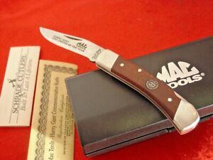 "Schrade Uncle Henry USA MAC Tools Lb5 Harry Gant LTD 3-3/4"" lockback knife MINT"