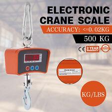 500KG 0.5T 1100 Lbs Digital Crane Scale Heavy Duty Hanging Scale Ocs-s Au Stock