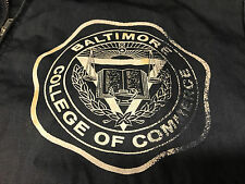 Old Vtg BALTIMORE COLLEGE OF COMMERCE Navy Blue Men's School Jacket Coat