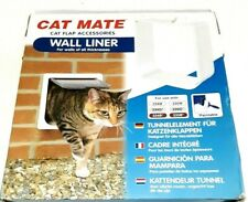 Cat Mate Cat Flap Wall Liner - White 303W Use With 234W 234G 234B Paintable