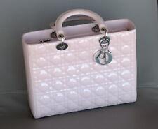 CHRISTIAN DIOR Classic Lady Dior Large Cherry Blush Pink ladies bag purse
