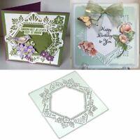 Hexagon Lace Metal Cutting Dies Stencil Scrapbooking DIY Album Paper Card Craft