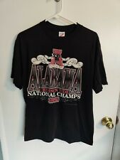 Vintage Alabama Crimson Tide 1992 National Champs Men's Black T-Shirt L Large