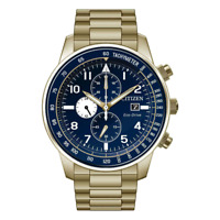 Citizen Men's Eco-Drive Chronograph Tachymeter Blue Dial 42mm Watch CA0692-58L