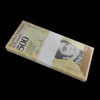 Bundle Lot 100 PCS, Venezuela 500 Bolivares Soberano, 2018, P-New, Banknotes UNC