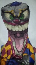 Spirit Halloween Costume Scary Clown Children Size Large One Piece Cover Face