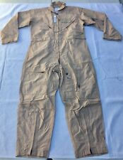 New USAF USN Nomex CWU-27/P Flight Suit Flyers Coveralls Desert Tan 48L 48 Long