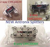 Antronix Cable TV CATV Coax Splitters 2/4/8-Way HD Digital MOCA 1/2/3/4/5pc NEW