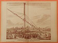Das längste Fernrohr des Astronomen Hevel Danzig  Druck von 1903