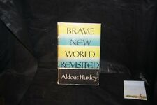 Brave New World Revisited Aldous Huxley Rare Book 1958 first edition