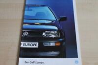 108436) VW Golf III - Europe - Prospekt 12/1992