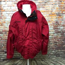 COLUMBIA MEN'S RED NYLON SKI SNOW BOARD JACKET SIZE M Z01-12