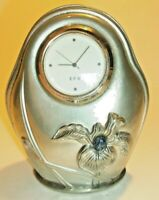KIRK STIEFF ART NOUVEAU PEWTER CLOCK- BEAUTIFUL!! 10% TO CANCER RESEARCH.