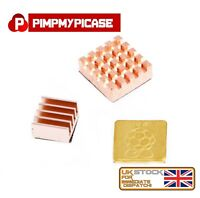 Raspberry Pi 2/3/4 Premium 3 x Copper Heat Sink With 3M Special Thermal Cooling
