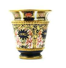 Antique Royal Crown Derby Miniature Vase Imari 1128 1917