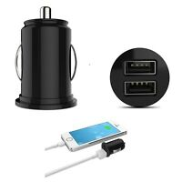 MINI DUAL USB TWIN 2 Port 12V UNIVERSAL In Car Lighter Socket Charger Adapter
