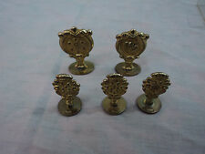 Vintage Brass Wax Stamp Seals Italy Lot of 5