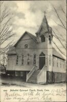 Noank CT ME Church c1905 Postcard