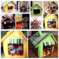 Eg _ Chiot Animal Chien Chat Maison Hiver Chaud Coussin Niche Lavable Détachable