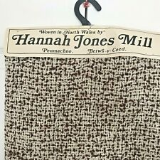 Vtg Boucle Tweed Skirt Fabric Woven by Hannah Jones Mill North Wales 71 x 147cm