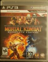 Mortal Kombat -- Complete Edition (Sony PlayStation 3, 2012) Complete Game PS3