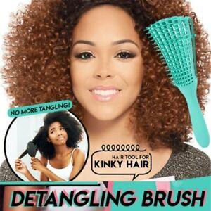 Detangler Hair Brush Anti-Static Portable Comb Scalp Curly Hair Salon Styling