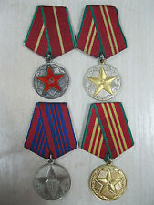 Soviet Russian MVD medals For Impeccable Service Silver 1class 50 years MILITIA