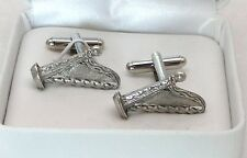 Welsh Harp Cufflinks in Fine English Pewter, Gift Boxed