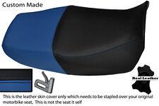 Royal Blue & Negro Custom encaja Honda Cb 750 Nighthawk Doble Cuero Funda De Asiento