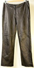 bebe Real Leather Black Pants Womens Size 8
