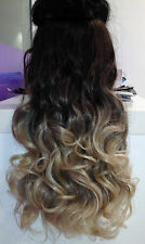 """One Piece Clip In Hair Extensions 18""""20""""22""""26"""" THICK like human full head 100%"""