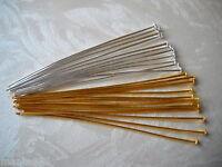Nietstifte Kettelstifte Kopfstifte  silber gold 60 mm Prismenstifte Pins Auswahl
