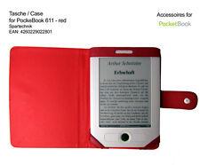 Rote Tasche f. Pocket Book 611 & 613 Basic Obreey Lidl EBook Pocketbook Case red