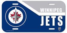 Nhl® Winnipeg Jets Plastic License Plate - Support Your Team