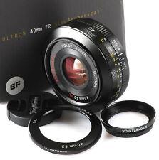 New Version Usa Voigtlander Sl Ii N Ultron 40mm 40/2 Sl Ii Canon Eos w/ closeup
