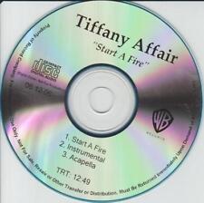 Tiffany Affair: Start A Fire PROMO MUSIC AUDIO CD Instrumental Acapella 3trk R&B