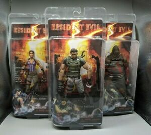 NECA Resident Evil 5 NEW FULL SET Chris Redfield Sheva Alomar Executioner Majini