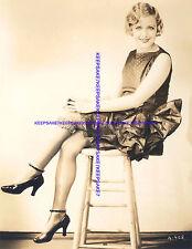Schöne Schauspielerin Edna Murphy Nizza 1927 Kahl Foto zeigt ihr Strumpfband eine-Braunbären