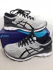 ASICS Gel Kayano 24 Mens Size 8.5 (4E) Silver/Black Running Shoes X15-253
