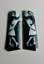 Colt 1911 Grips WW2 VE Day Sweetheart Kiss Fits Full Size And Commander 1911s